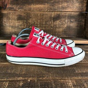 Converse Mens Red Chuck Taylor All Star Shoes Sz 9